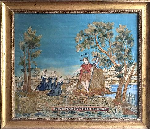 Tableau religieu représentant Saint Jean Baptiste