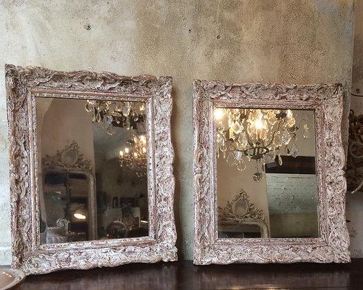 Paire de miroirs sur cadres Montmartre