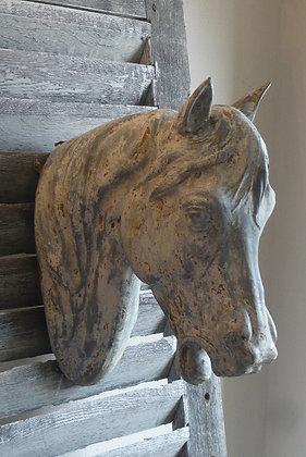 Tête de cheval en zinc