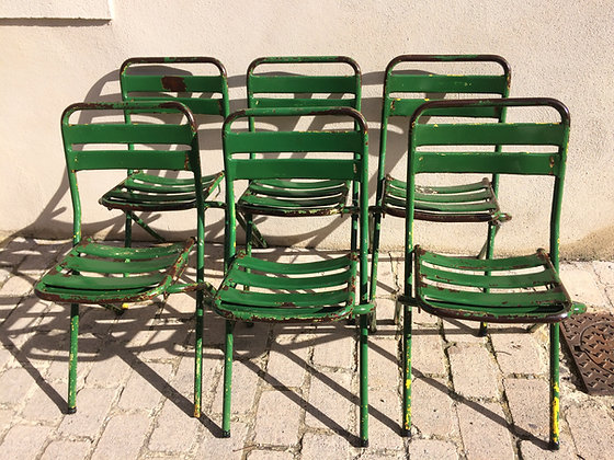 Lot de 6 chaises métal