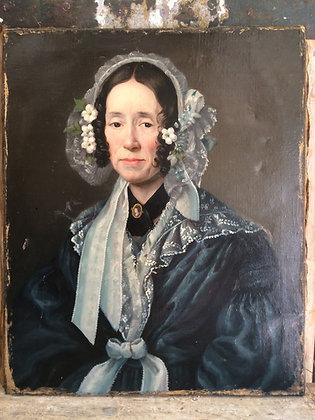 Portrait Huile sur toile début XIXème