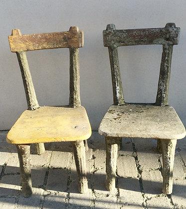 Paire Chaises en ciment