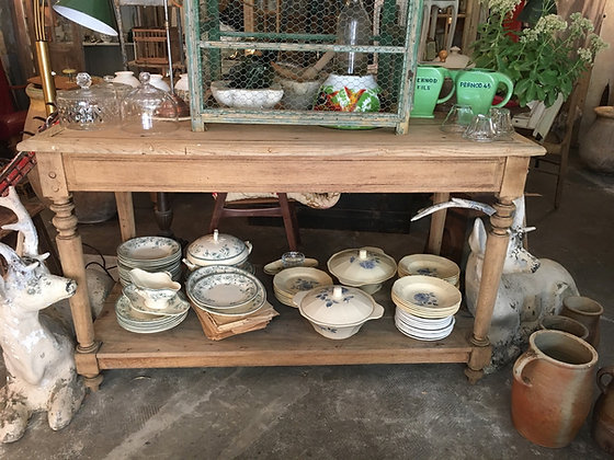 Table de drapier en chêne