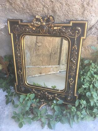 Paire Miroirs Napoleon III en métal