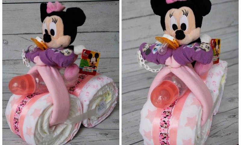 gâteau de couches - Moto Minnie