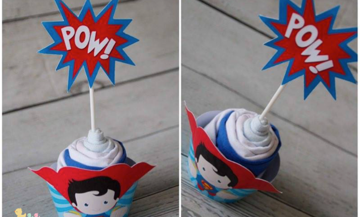 Cupcake body Superman