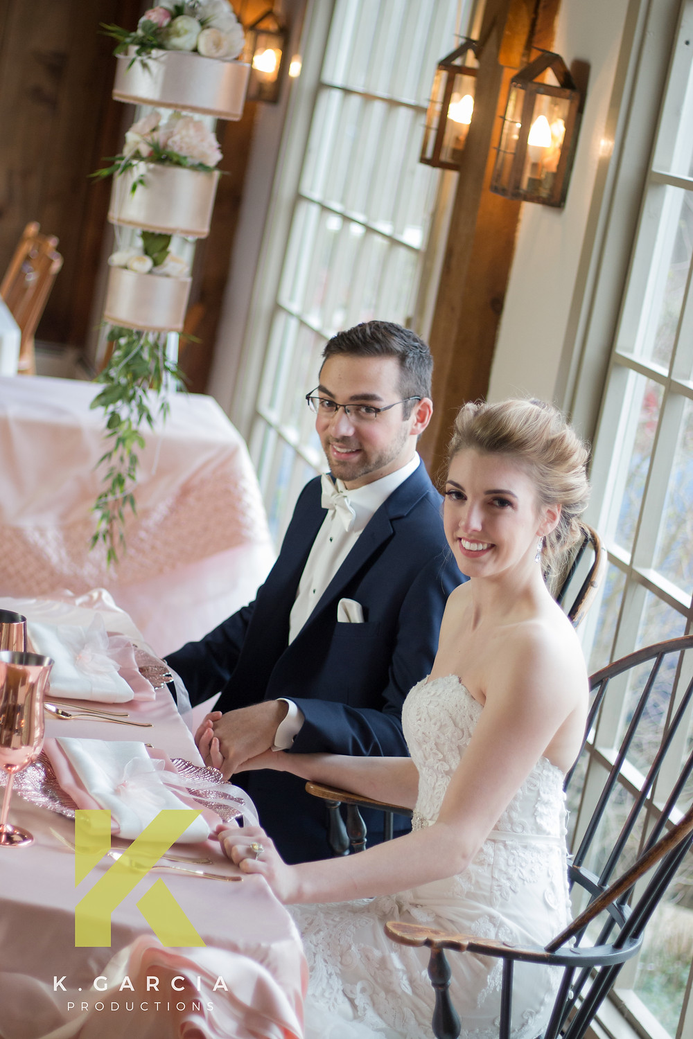 K Garcia Productions Wedding Photographer Wingate's Cakes Bride and groom
