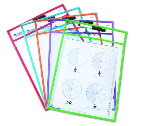 Check this out - 10 x Dry Erase Sleeves with pens