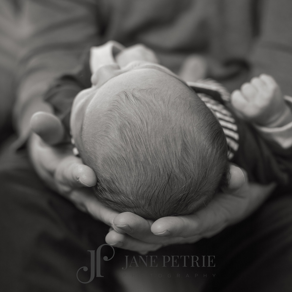 In dads hands