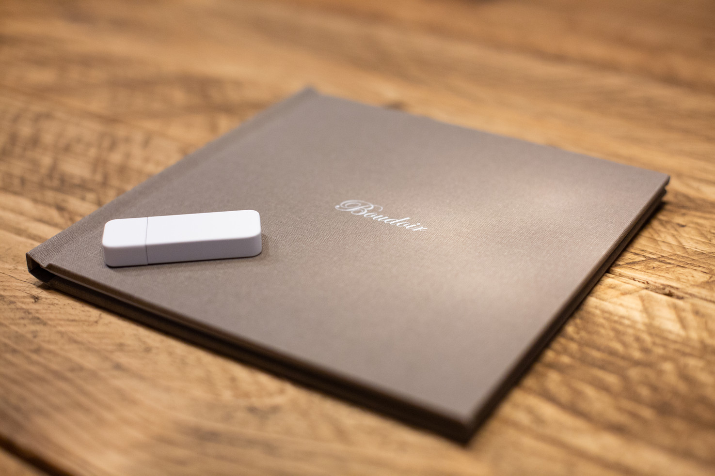 A beautiful momento book and USB