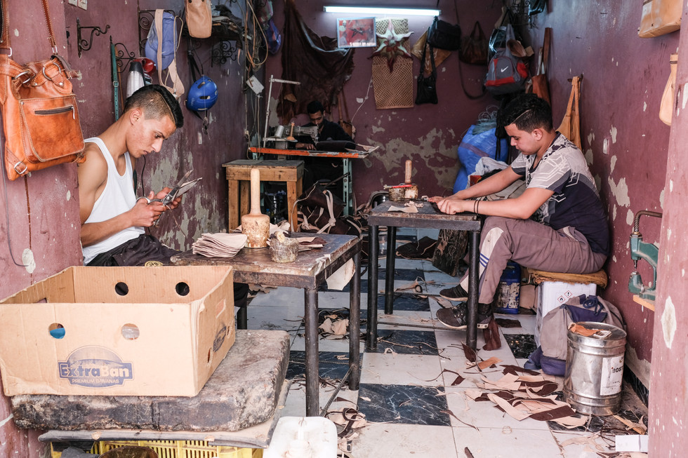 Marrakech leather workers