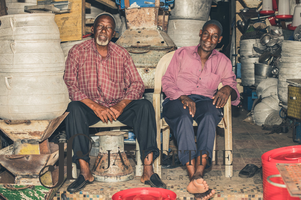 Ivory Coast shop owners
