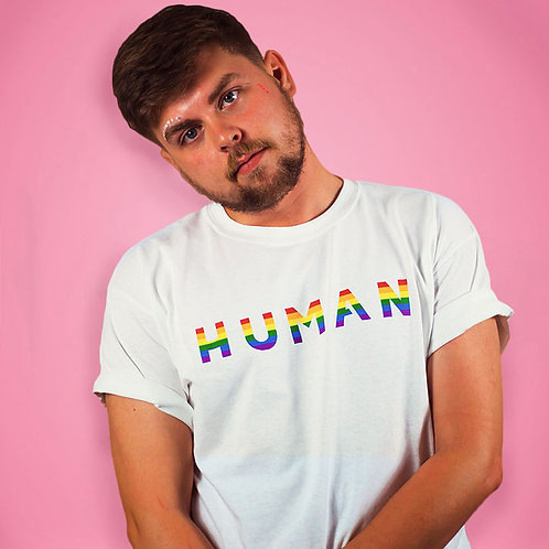 Human LBGTQ Gay Pride Shirt Tee Shirt