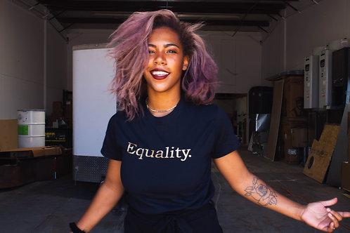 Equality Gold  Pride Shirt LGBTQIA+ Shirt Gay Lesbian Transgender Asexual Outfit