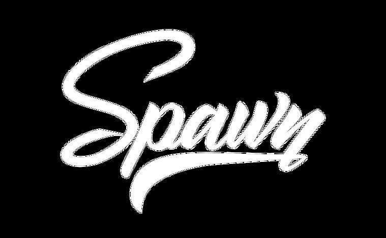 dj spawn logo blanc