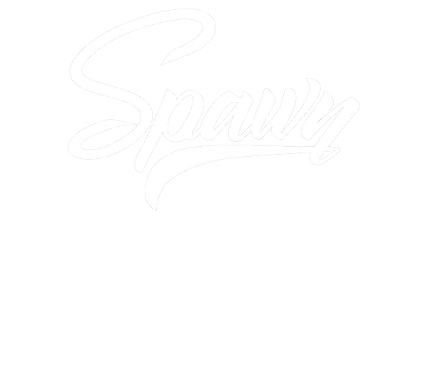 dj spawn logo white