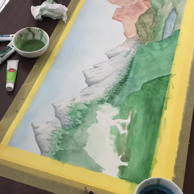 Watercolor Sasquatch Timelapse