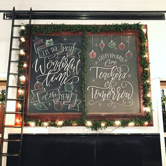 Holiday Chalkboard Wall
