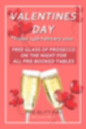 Book a table fo Valentine's Day at The Butt Inn Pub, Aldermaston Wharf