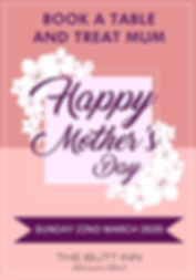 Book a table with us and celebrate Mother's Day at The Butt Inn Pub, Aldermaston Wharf