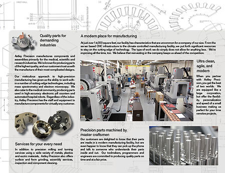 trifold design, brochures, product literature