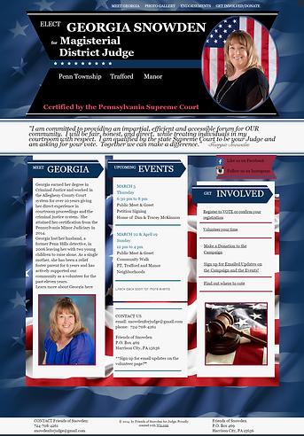political campaign website, campaign web