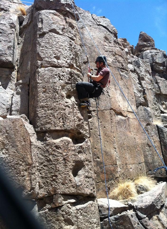 Dave repelling