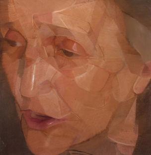 Lisette,  pastel sec sur toile, 82 x 85 cm, 2008