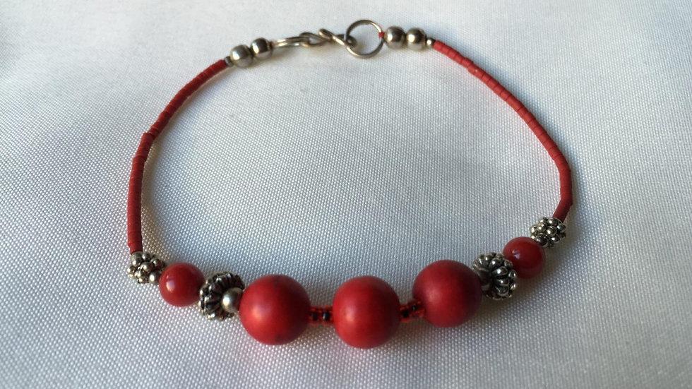 Red Dragon Seeded Bracelet