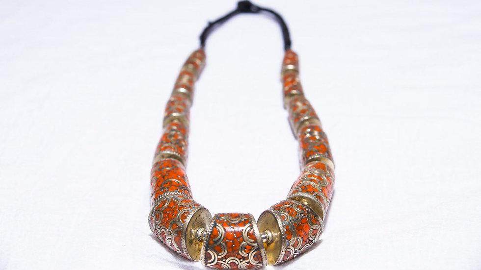 Coral & Silver Necklace