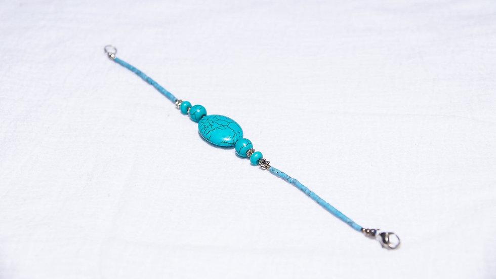 Turquoise Colored Magnesite Gemstone Bracelet