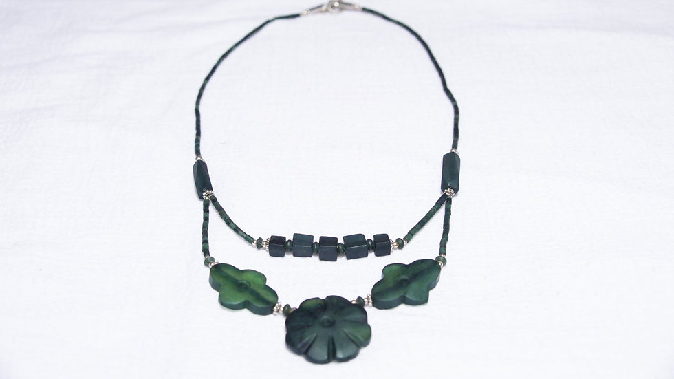 Deep Green Jade Necklace