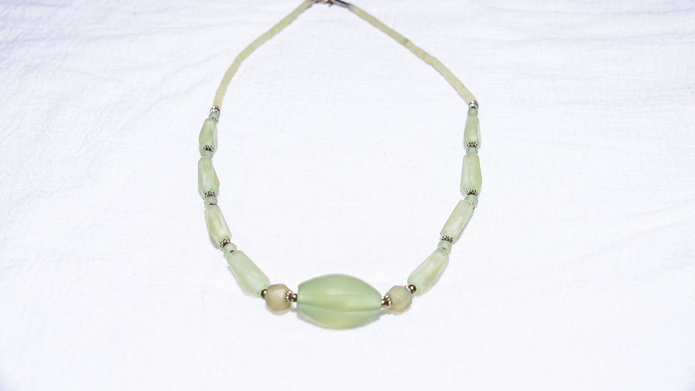 Opaque Green Zade Necklace