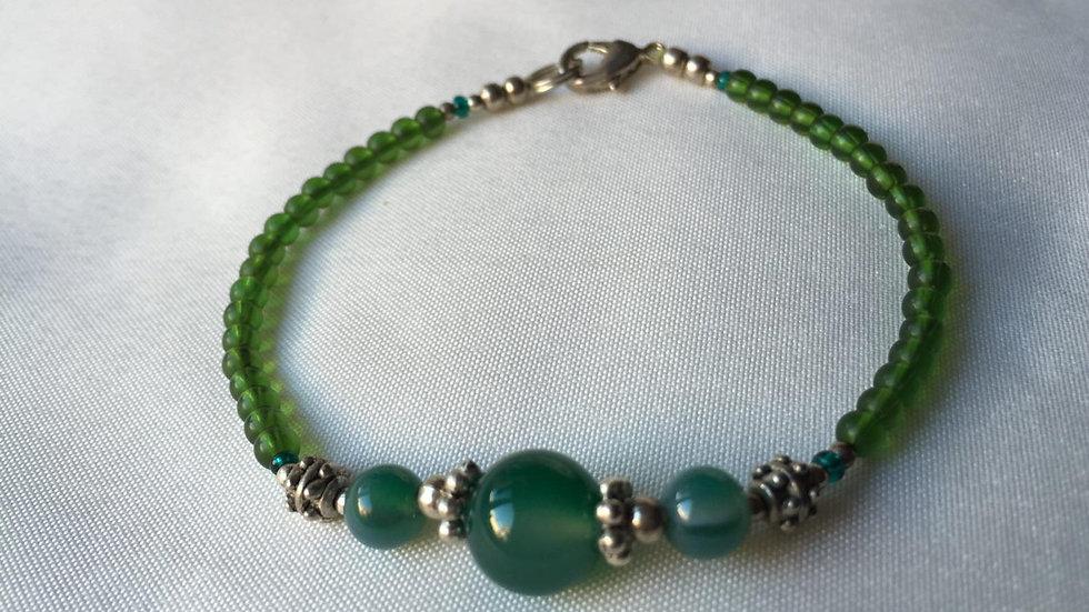 Sea-Green Jade Bracelet