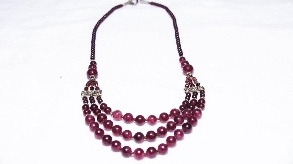 Deep Purple Amethyst Necklace