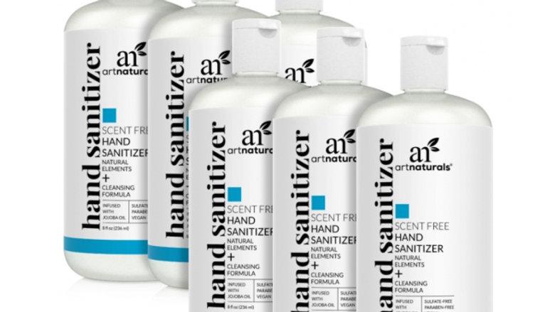 Hand sanitizer scent free 8OZ