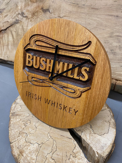 Solid Irish Whiskey Cask Clocks