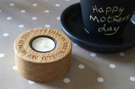 Engraved Single Tea Light Holders