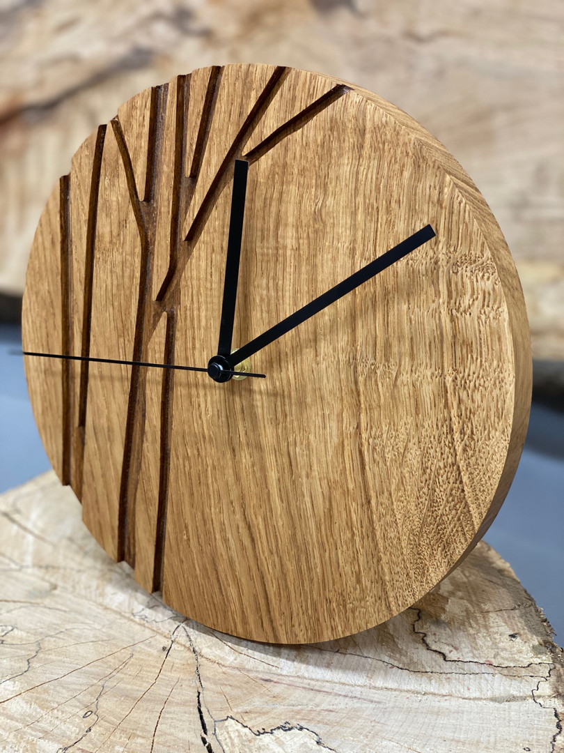 Solid Oak Wall Clocks (Free Personalised Engraving)