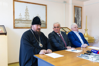 В штабе Костромского кремля прошла пресс-конференция о ходе строительных работ