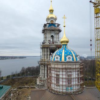 Ход строительных работ Богоявленского собора Костромского кремля
