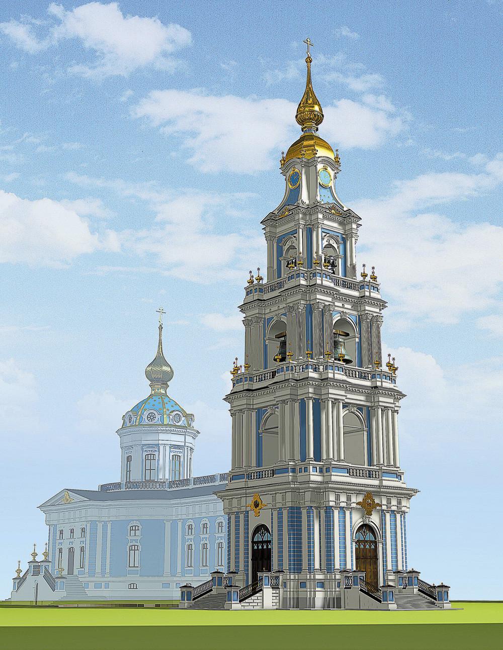 Проект восстановления Богоявленского собора и колокольни.