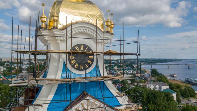 На Костромском кремле продолжаются отделочные работы. Фоторепортаж