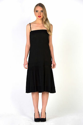 Cotton Dropped Waist Dress