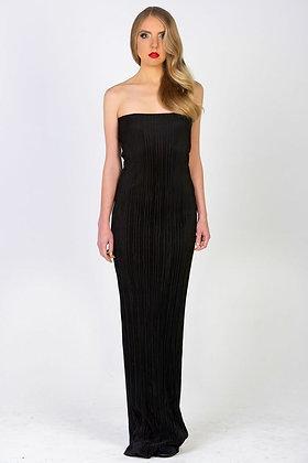 Strapless Ribbed Dress