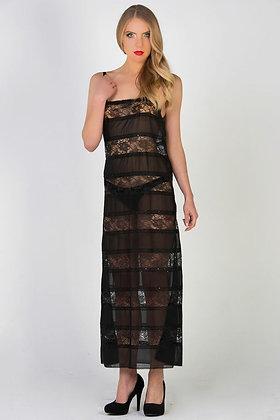 Lace & Chiffon Panel Dress