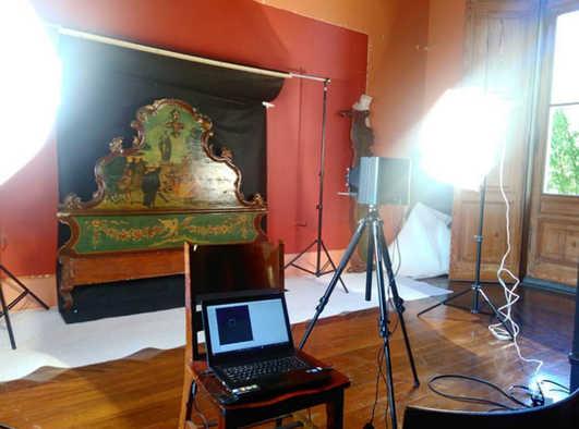 Reflectografia com Infravermelho. Acervo: Museu Paulista - USP