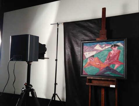Reflectografia com Infravermelho. Acervo: Museu Lasar Segall