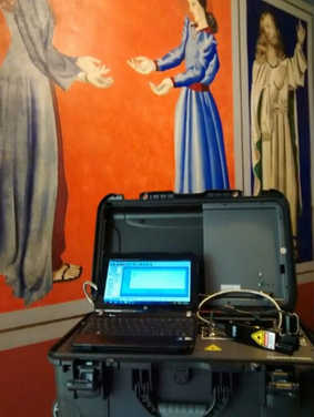Espectroscopia Raman portátil. Acervo: Museu Casa de Portinari