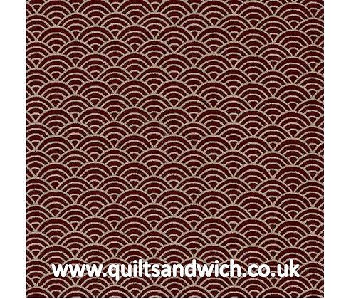 Waves Burgundy 106 inches x 34 inches